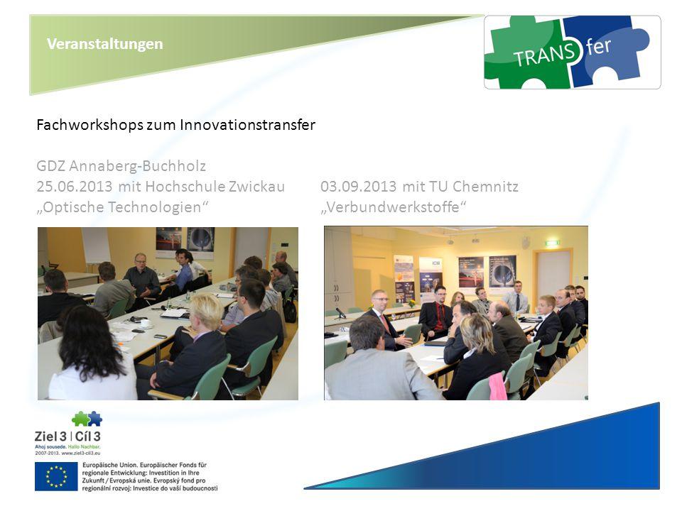 Veranstaltungen Fachworkshops zum Innovationstransfer. GDZ Annaberg-Buchholz.