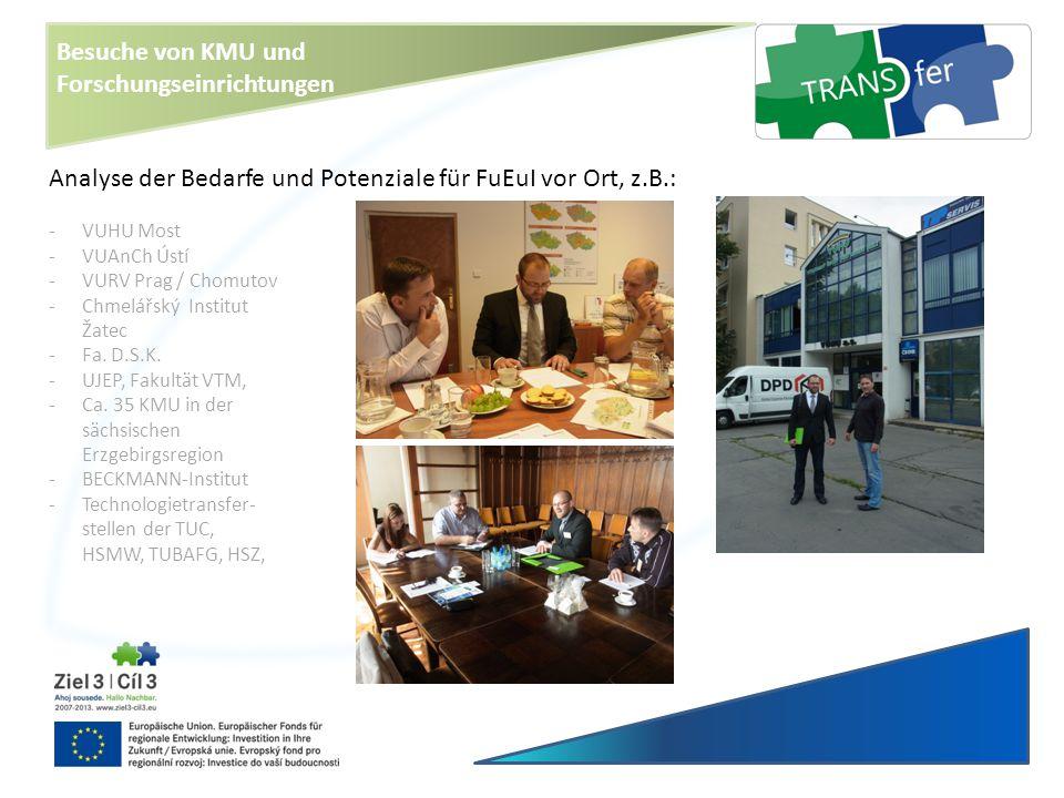 Besuche von KMU und Forschungseinrichtungen