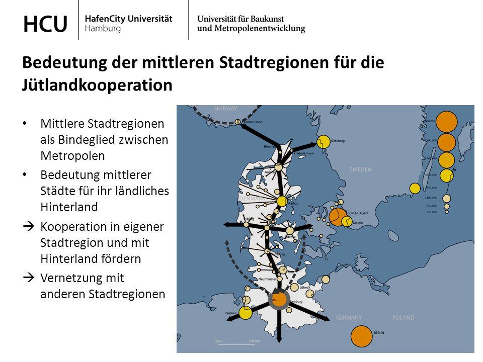 Bedeutung der mittleren Stadtregionen für die Jütlandkooperation