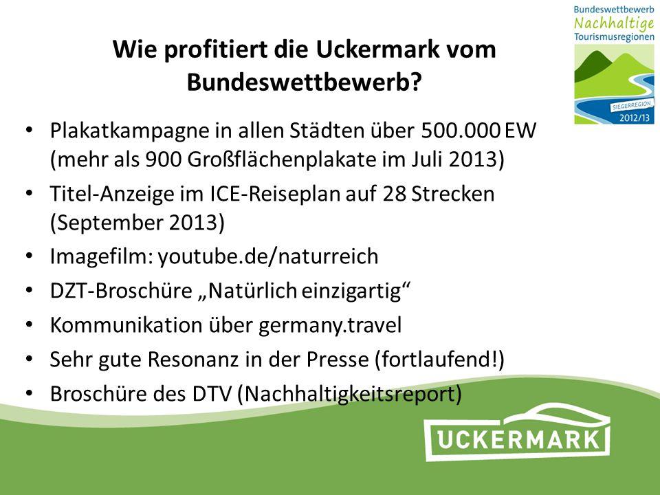 Wie profitiert die Uckermark vom Bundeswettbewerb