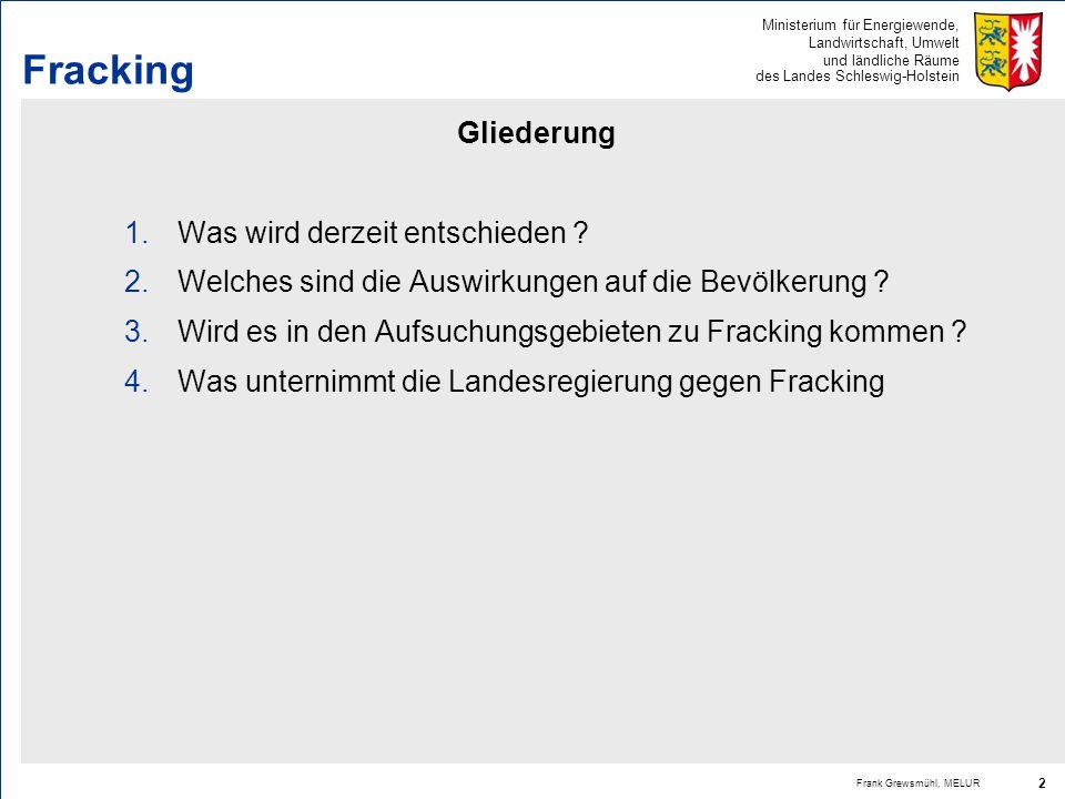 Fracking Gliederung Was wird derzeit entschieden