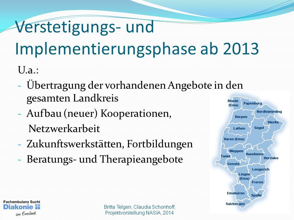 Verstetigungs- und Implementierungsphase ab 2013