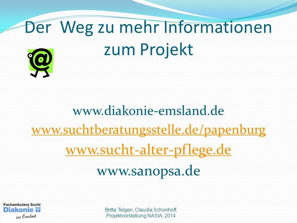 Der Weg zu mehr Informationen zum Projekt