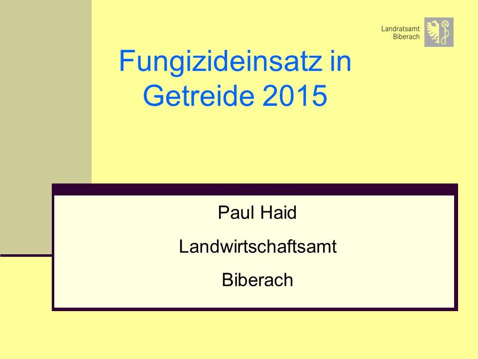 Fungizideinsatz in Getreide 2015