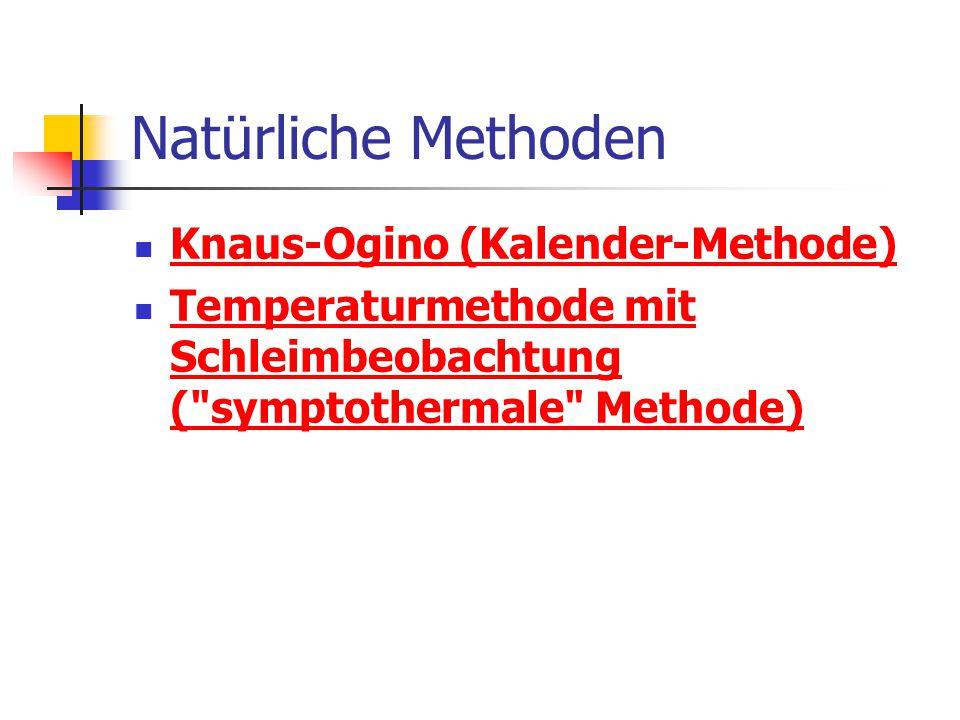 Natürliche Methoden Knaus-Ogino (Kalender-Methode)