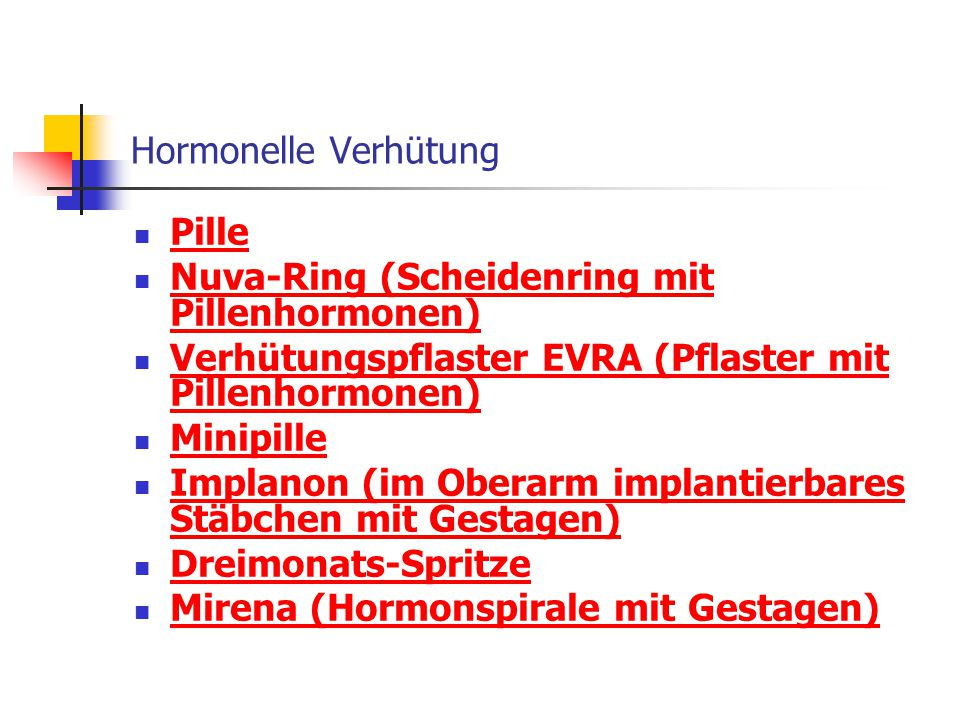 Hormonelle Verhütung Pille. Nuva-Ring (Scheidenring mit Pillenhormonen) Verhütungspflaster EVRA (Pflaster mit Pillenhormonen)