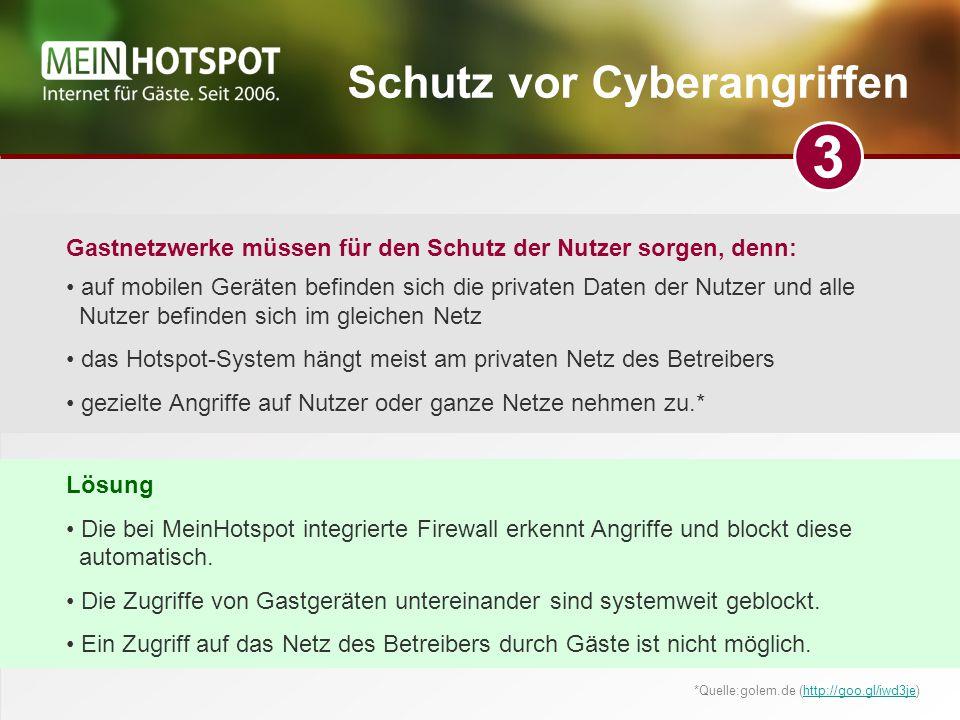 Schutz vor Cyberangriffen