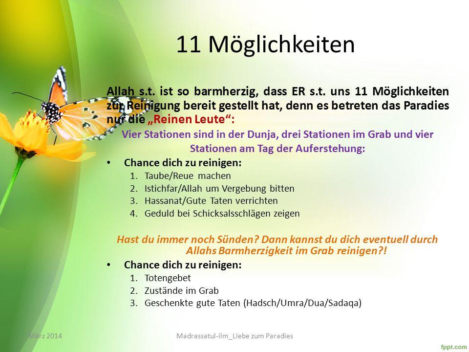 11 Möglichkeiten