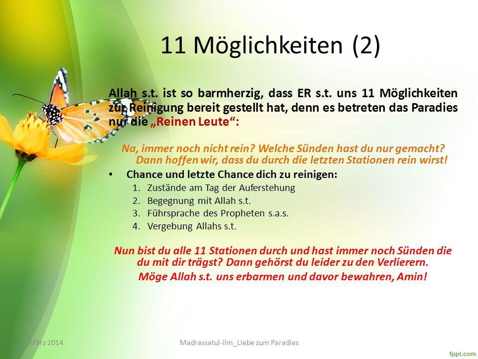Möge Allah s.t. uns erbarmen und davor bewahren, Amin!