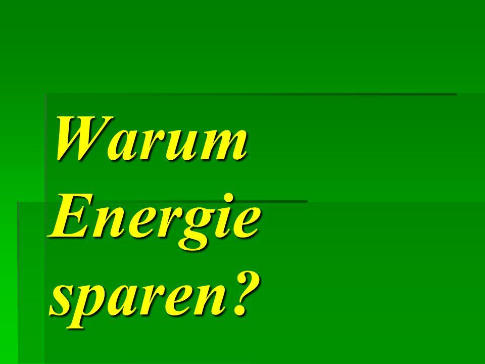 Warum Energie sparen