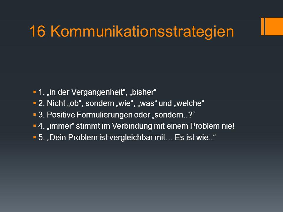 16 Kommunikationsstrategien
