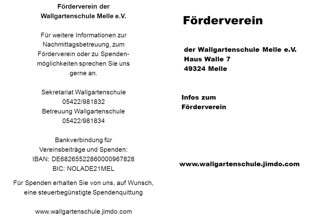 Wallgartenschule Melle e.V.