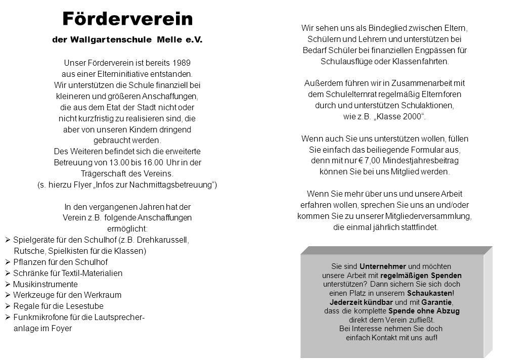 Förderverein der Wallgartenschule Melle e.V. 2