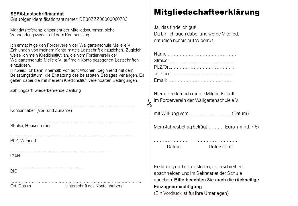 Mitgliedschaftserklärung