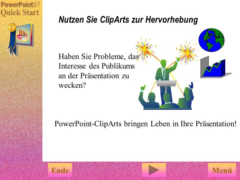Nutzen Sie ClipArts zur Hervorhebung