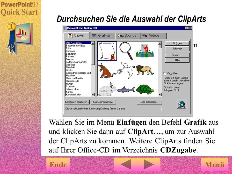 Durchsuchen Sie die Auswahl der ClipArts