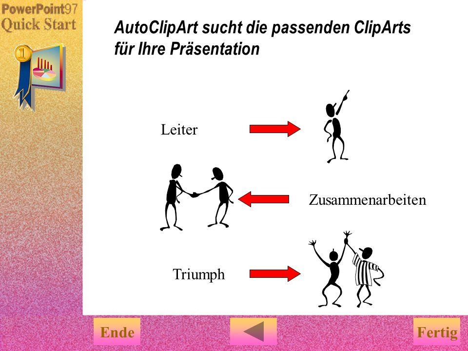 AutoClipArt sucht die passenden ClipArts für Ihre Präsentation