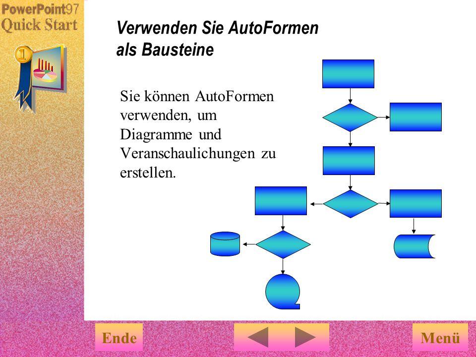 Verwenden Sie AutoFormen als Bausteine
