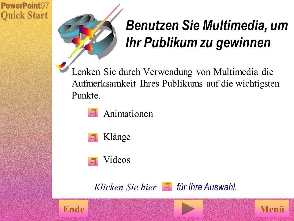 Benutzen Sie Multimedia, um Ihr Publikum zu gewinnen