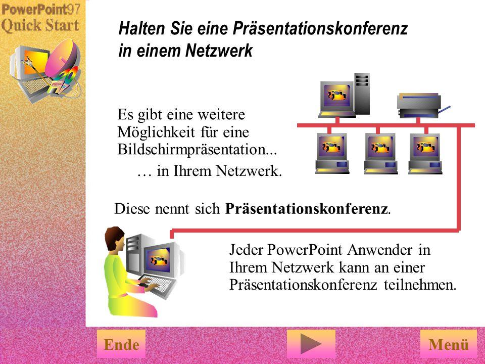 Halten Sie eine Präsentationskonferenz in einem Netzwerk