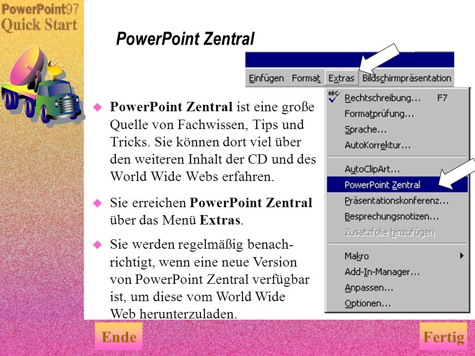 PowerPoint Zentral Ende Fertig