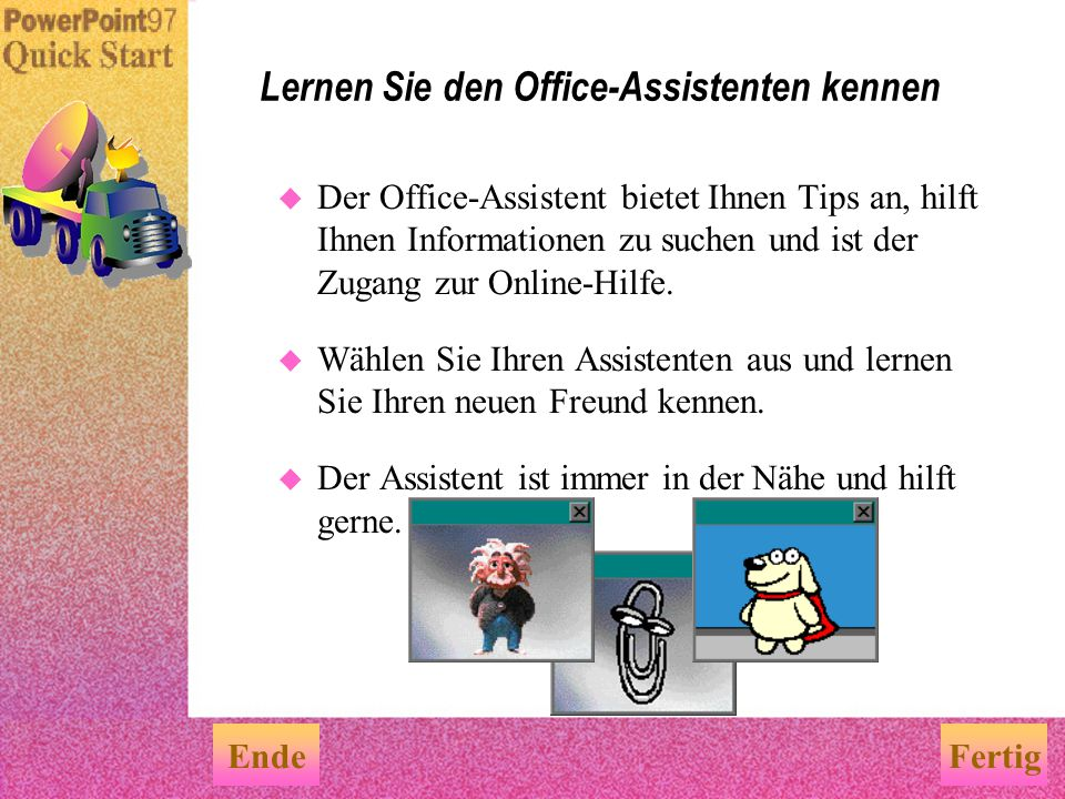 Lernen Sie den Office-Assistenten kennen