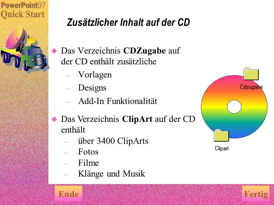 Zusätzlicher Inhalt auf der CD