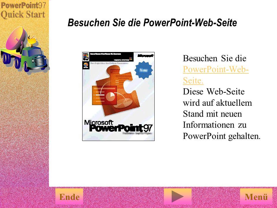 Besuchen Sie die PowerPoint-Web-Seite