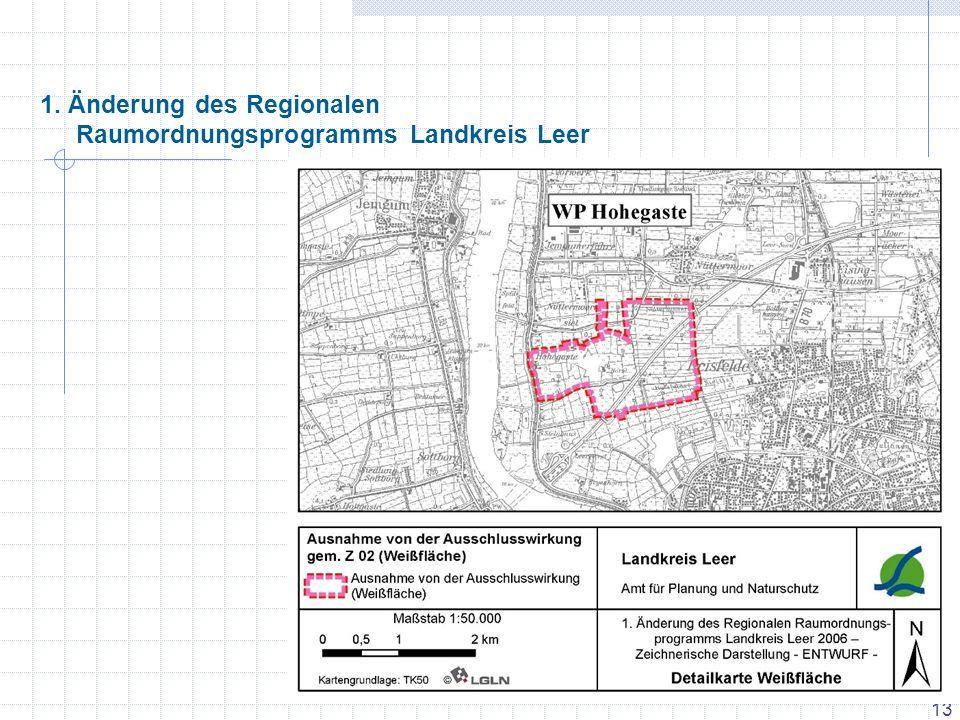 1. Änderung des Regionalen Raumordnungsprogramms Landkreis Leer