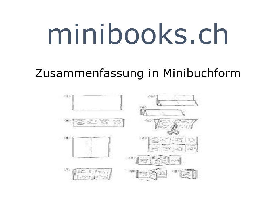 minibooks.ch Zusammenfassung in Minibuchform