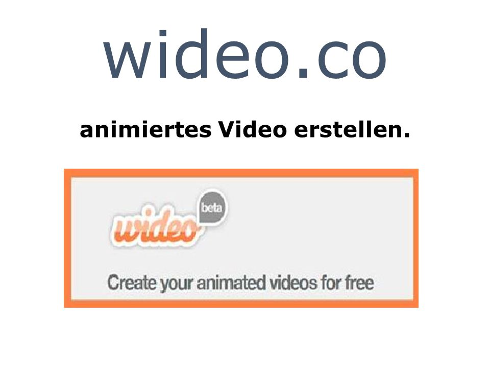 wideo.co animiertes Video erstellen.