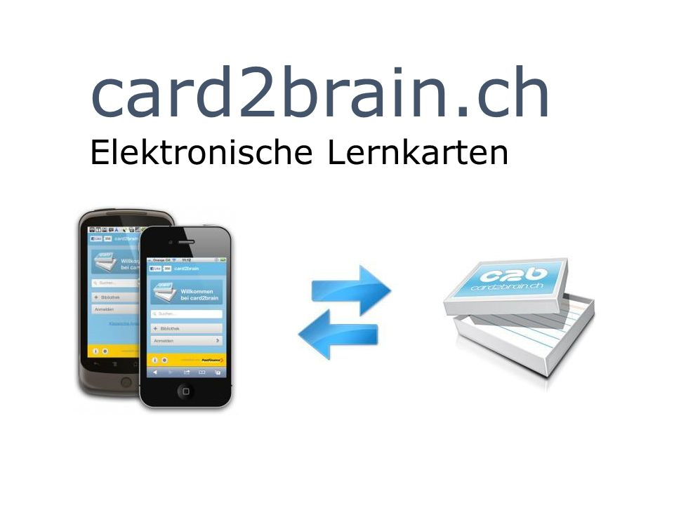 card2brain.ch Elektronische Lernkarten
