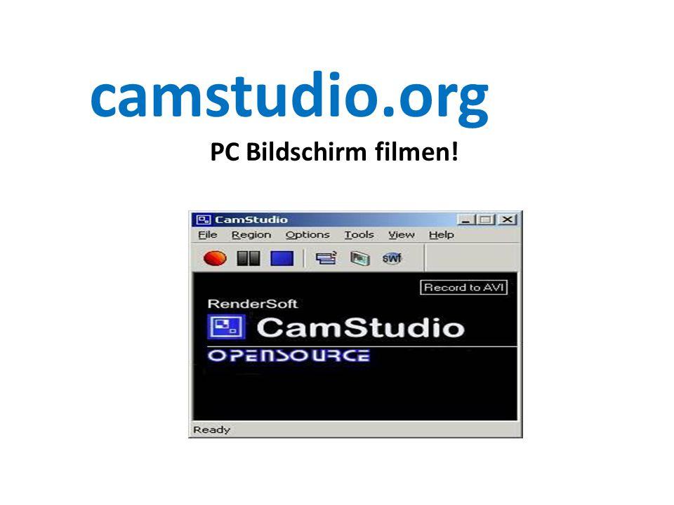 camstudio.org PC Bildschirm filmen!