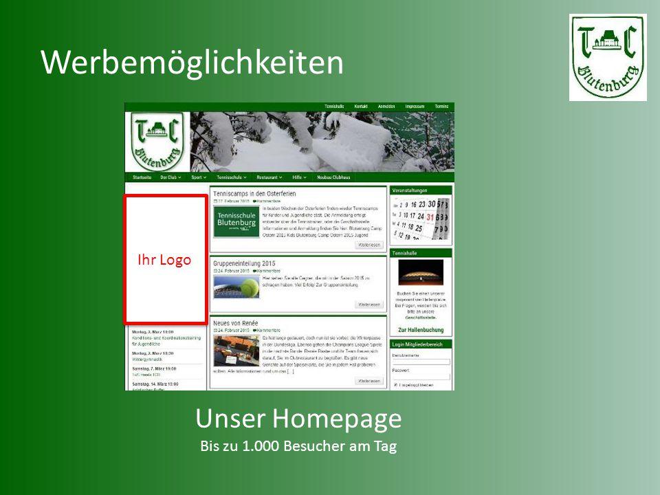 Werbemöglichkeiten Unser Homepage Ihr Logo