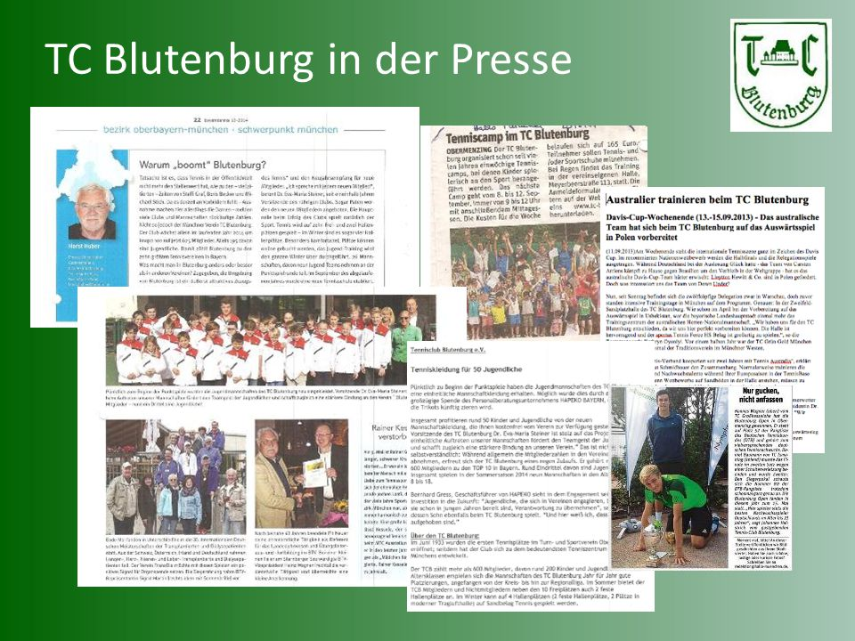 TC Blutenburg in der Presse