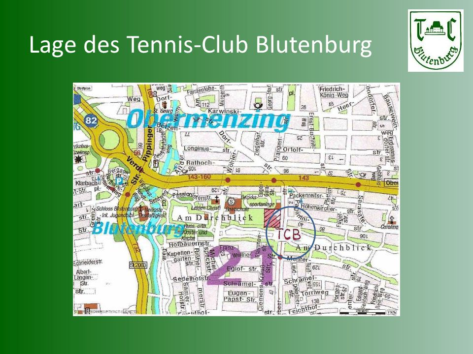 Lage des Tennis-Club Blutenburg