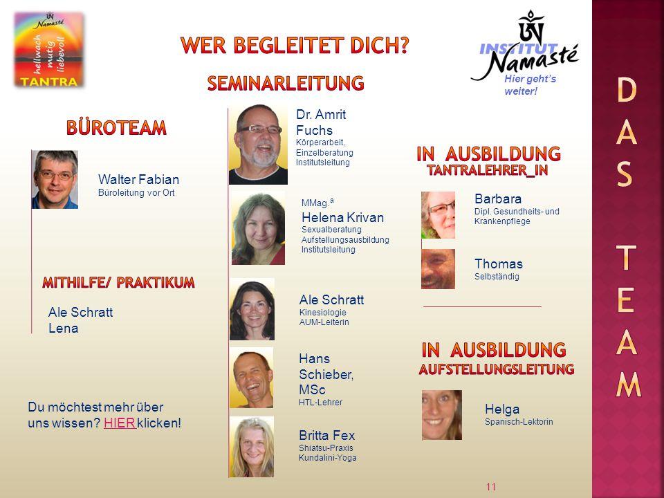 Das Team Wer begleitet dich Seminarleitung Büroteam In Ausbildung