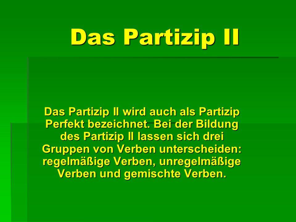 Das Partizip II