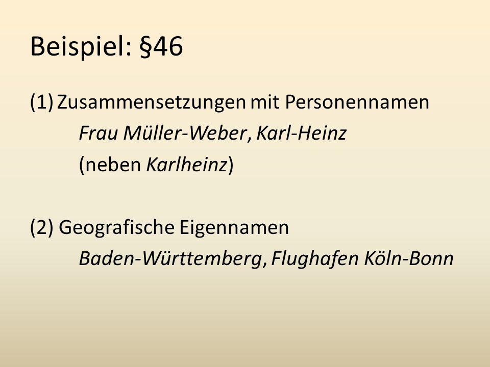 Beispiel: §46 Zusammensetzungen mit Personennamen