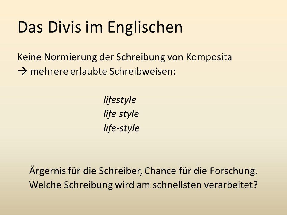 Das Divis im Englischen