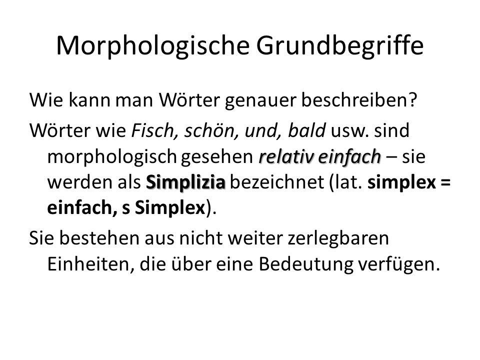 Morphologische Grundbegriffe