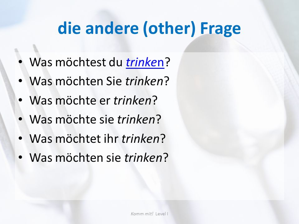 die andere (other) Frage