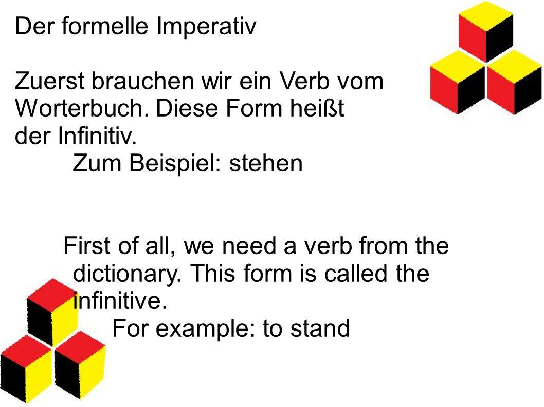 Der formelle Imperativ