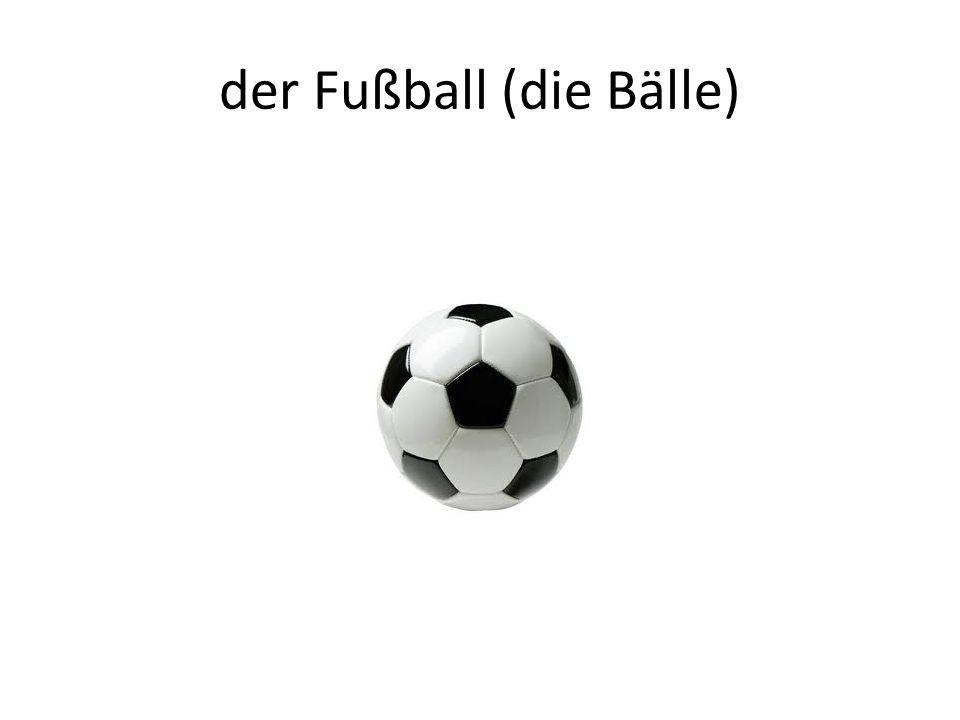 der Fußball (die Bälle)