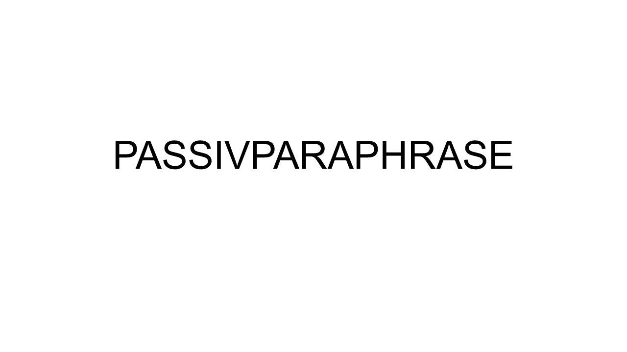 PASSIVPARAPHRASE