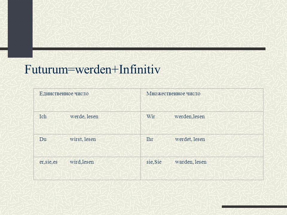 Futurum=werden+Infinitiv