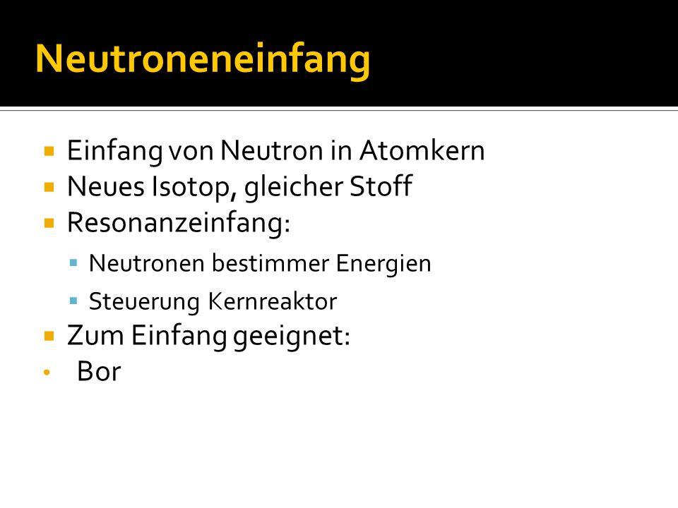 Neutroneneinfang Einfang von Neutron in Atomkern