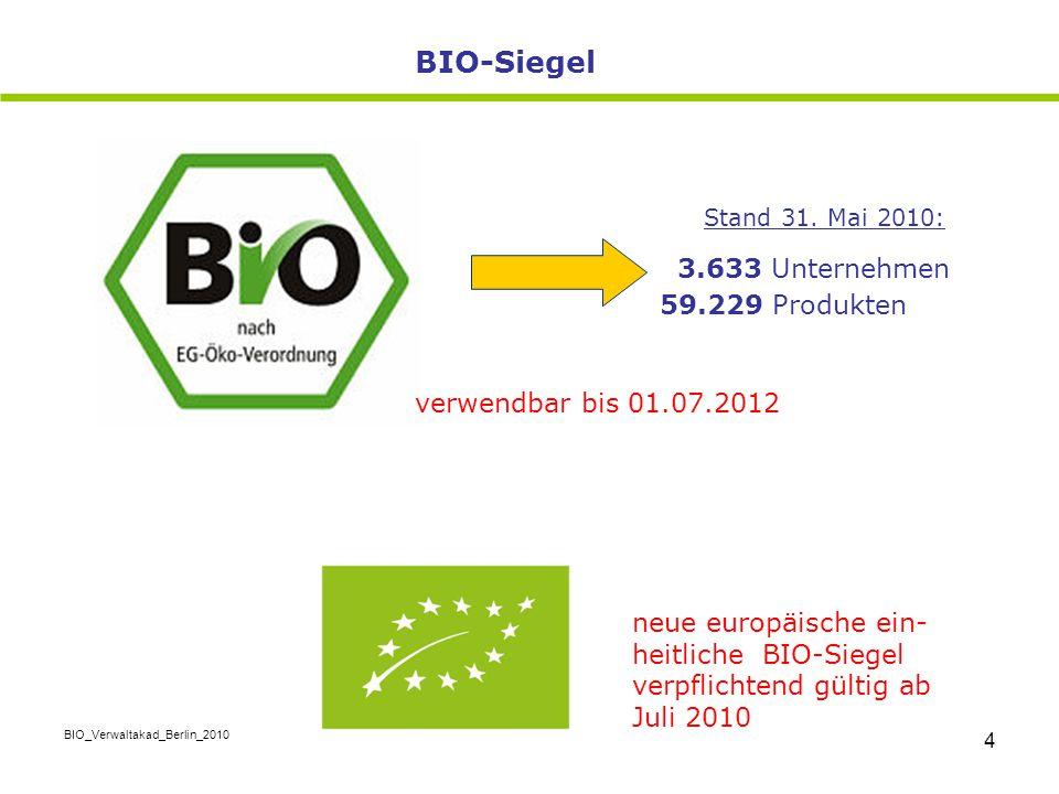 BIO-Siegel 3.633 Unternehmen 59.229 Produkten