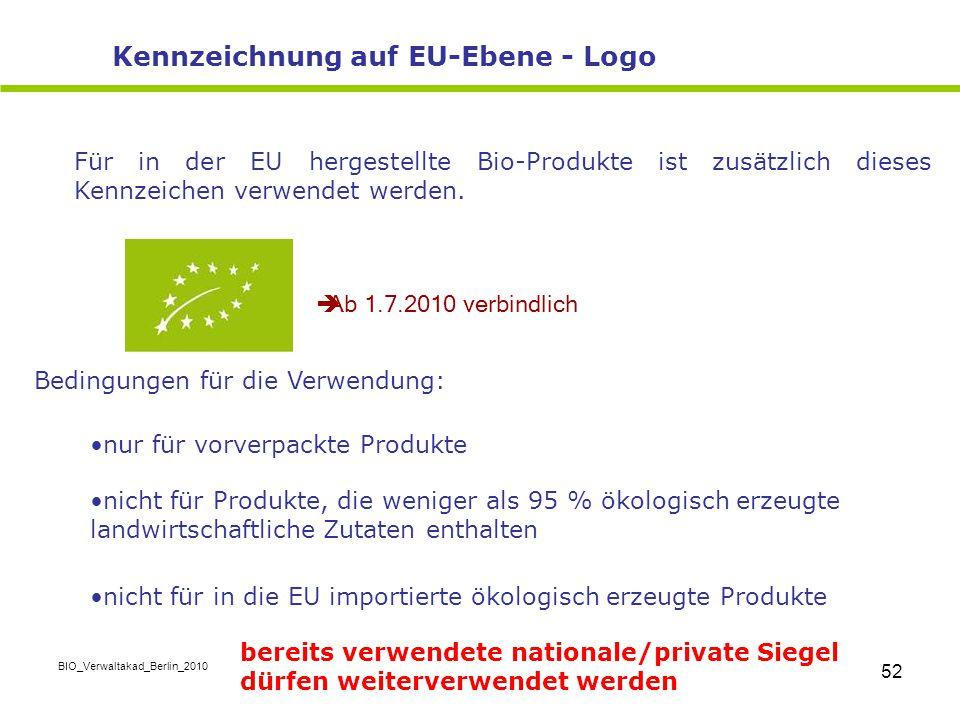 Kennzeichnung auf EU-Ebene - Logo