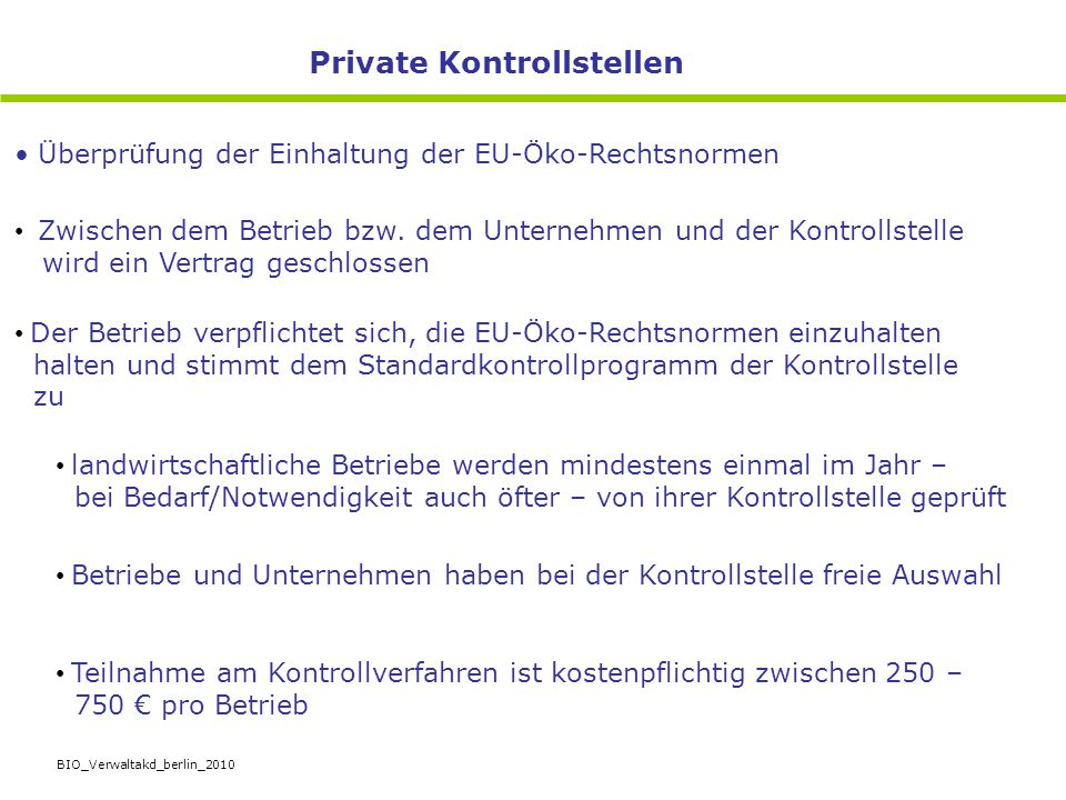 Private Kontrollstellen